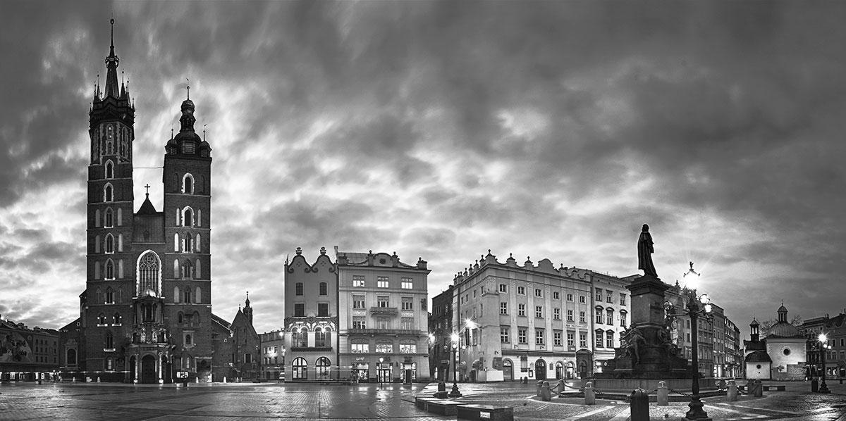 Kraków - rynek - panorama